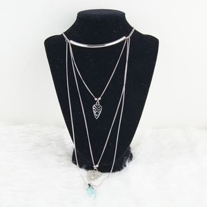 Forever 21 | Silver Multi Strain Chain Necklace